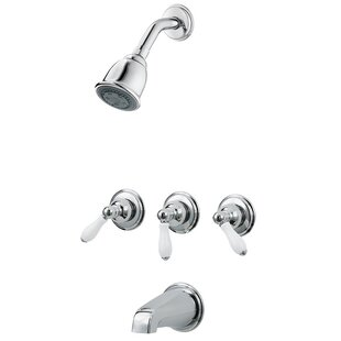 3 Handle Tub Shower Faucet Wayfair
