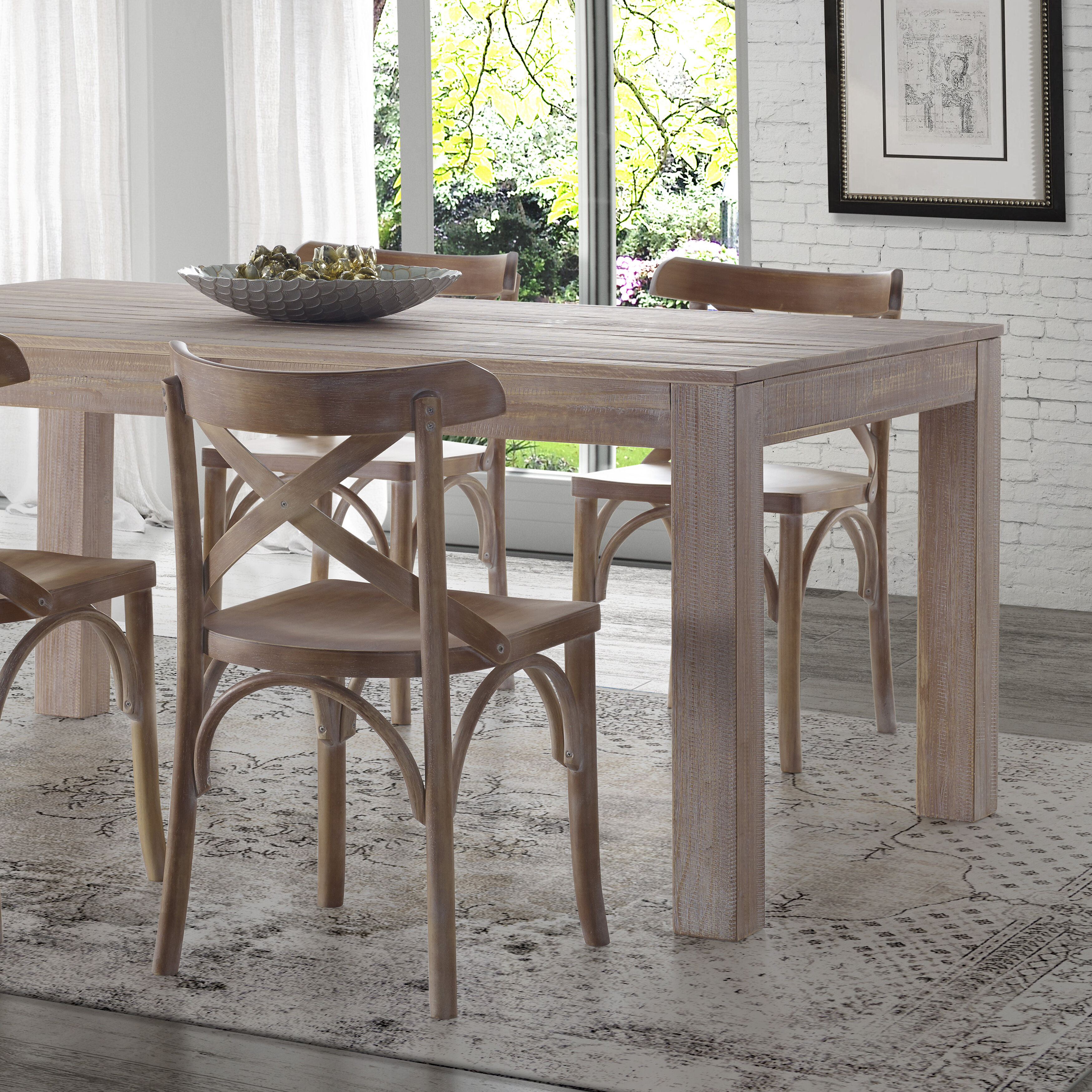 Merveilleux Montauk Solid Wood Dining Table