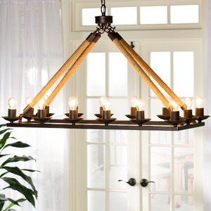 Matias Rectangular 14-Light Candle-Style Chandelier