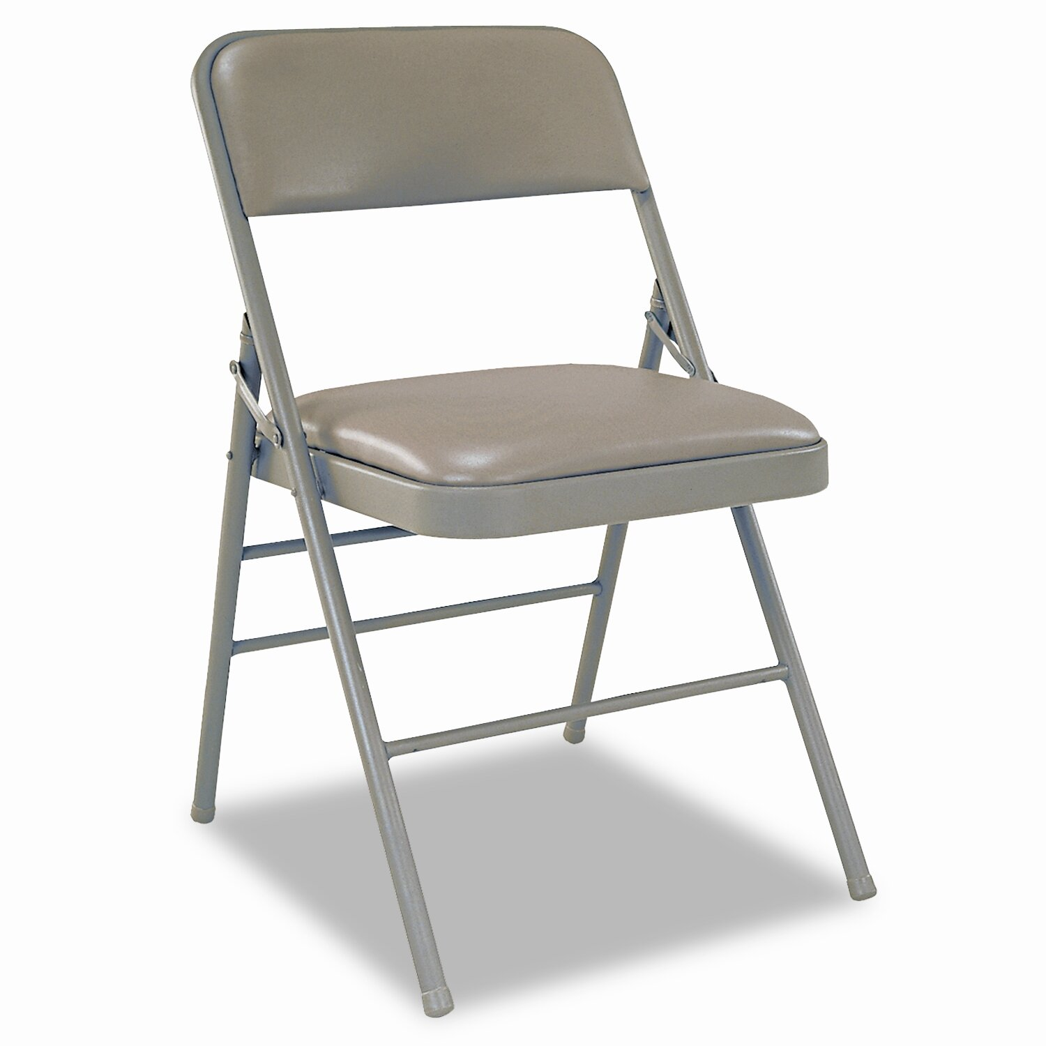 Attirant Cosco Deluxe Vinyl Padded Seat And Back Folding Chairs, Taupe, Four/Carton  | Wayfair