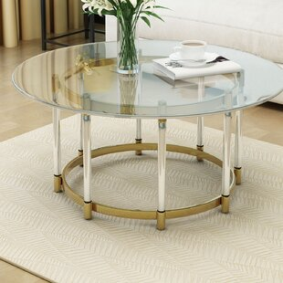 Superbe Haydel Tempered Glass Coffee Table