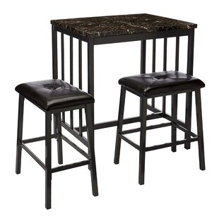 Presson 3 Piece Counter Height Dining Set