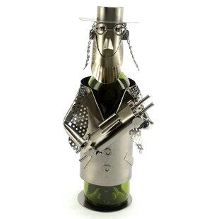 Rabbi with Torah 1 Bottle Tabletop Wine Rack