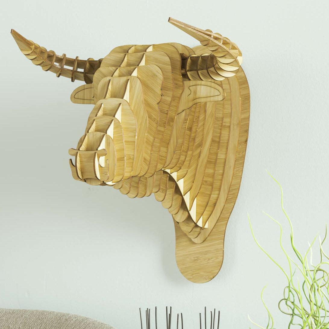 Antler Home Toro the Bamboo Bull Head Wall Décor | Wayfair