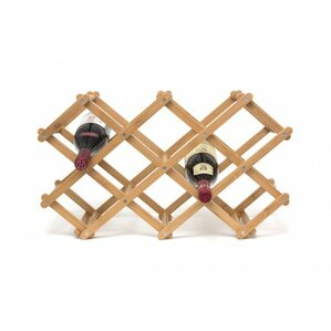 Morrissey Bamboo 10 Bottle Tabletop Wine Bottle Rack by Andover Mills