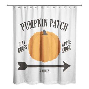 Correa Pumpkin Patch Shower Curtain