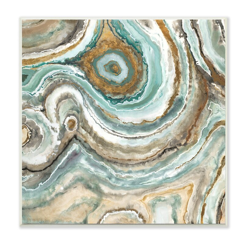 Willa Arlo Interiors Aqua Geode Stone Print Amp Reviews
