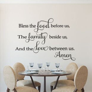 7213fdb3623 Bless the Food Wall Decal