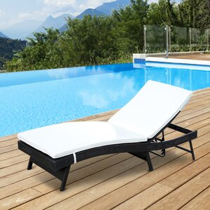 Shurtleff Adjustable PE Rattan Chaise Lounge Chair : chaise patio lounge - Sectionals, Sofas & Couches