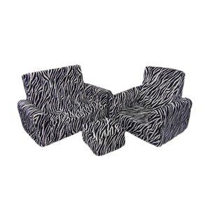 3 Piece Kids Sofa Chair and Ottoman Set by Fun Furnishings