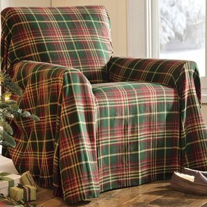 Plaid Box Cushion Armchair Slipcover by Plow & Hearth