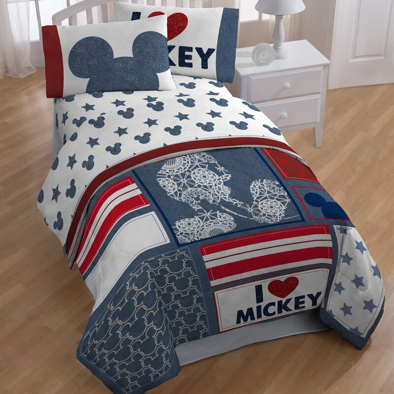 Mickey Twin 4 Piece Toddler Bedding Set