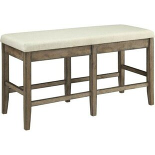 Barbara Upholstered Solid Wood Counter Height Bench