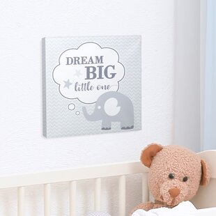 Dream Elephant Nursery Canvas Art