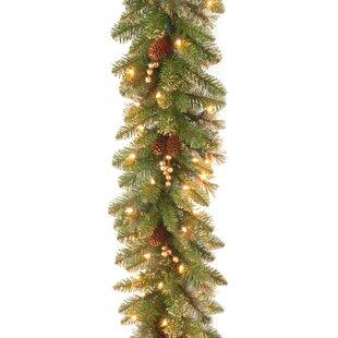 9 Glittery Faux Pine Garland