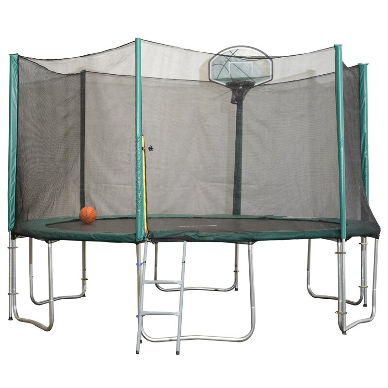 14' Round Trampoline with Safety Enclosure (Wayfair Exclusive)