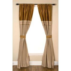 Backstrom Striped Semi-Sheer Rod Pocket Single Curtain Panel
