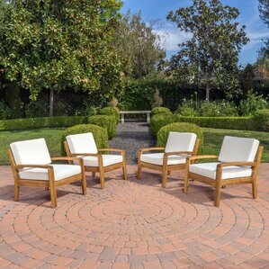 Gaia Wooden Armchair (Set of 4) by Highland ..