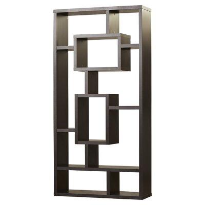 Brayden Studio Vaccaro Geometric Bookcase