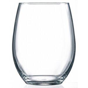 Edoardo 21 Oz. Stemless Wine Glass (Set of 4)