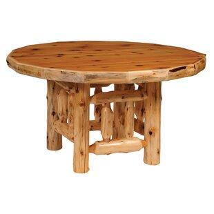 Traditional Cedar Log Round Dining Table
