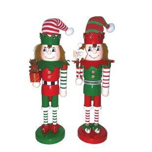 e0ee064fabecf 2 Piece Elves At Work Nutcracker Set. by Santa s Workshop