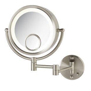 15x lighted magnifying mirror wayfair halo wall mount lighted mirror aloadofball Choice Image