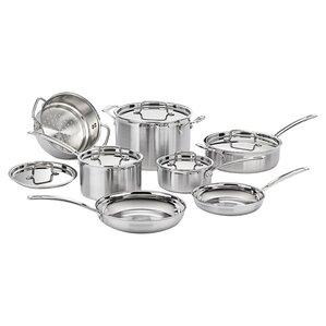 Cuisinart 12-Piece Multiclad Stainless Steel Cookware Set
