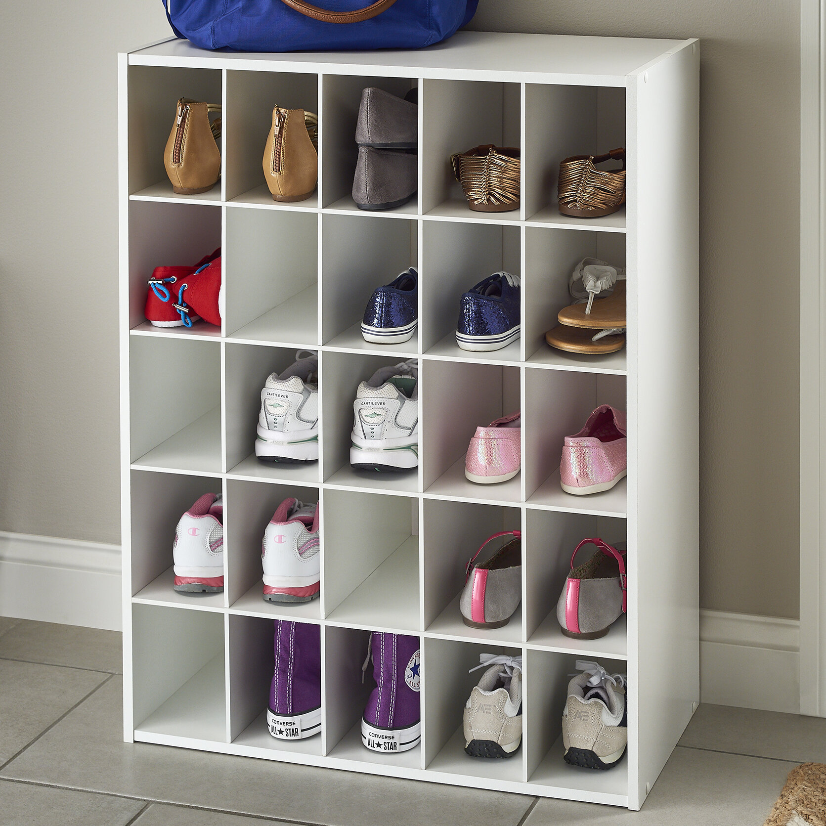25 Pair Shoe Rack Outdoor Shoe Storage