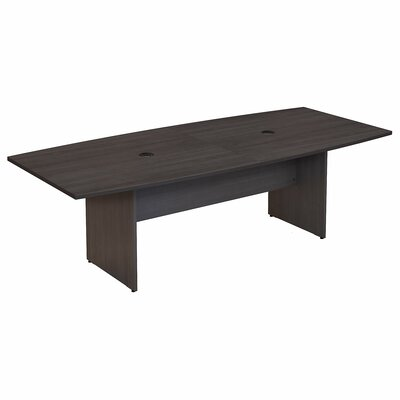 Bush Business Furniture Boat Shaped Conference Table Finish: Storm Gray
