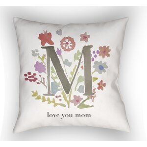 Bruch Love You Mom Indoor/Outdoor Throw Pillow