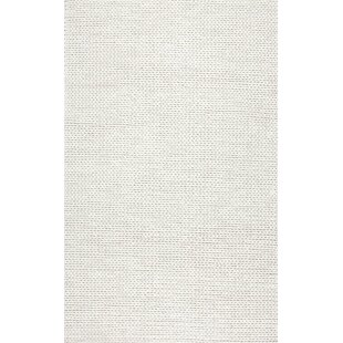 Arviso Hand Woven Wool Off White Area Rug