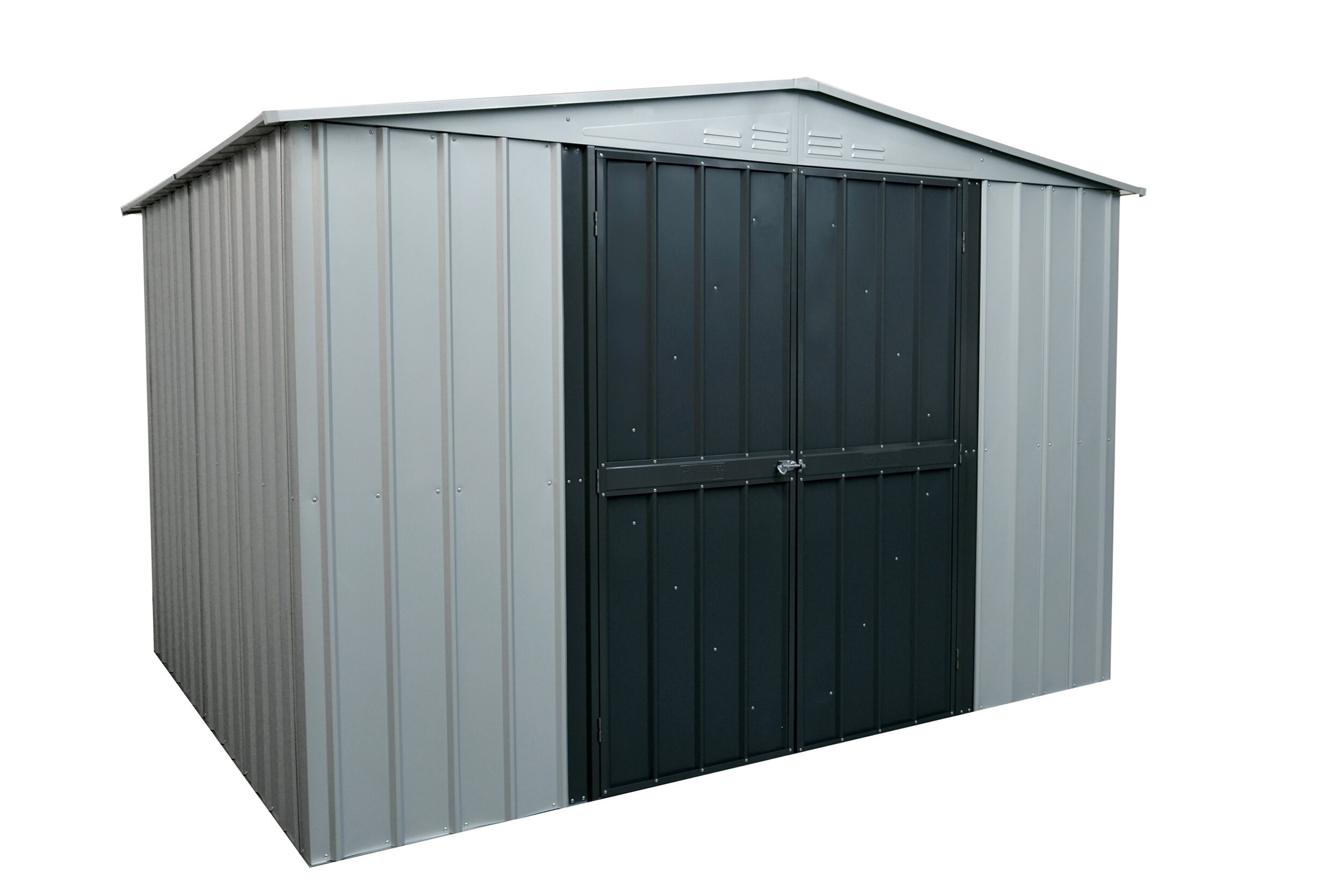 Globel Gable 7 Ft 8 In W X 5 9 D Galvanized Steel Storage Shed Wayfair