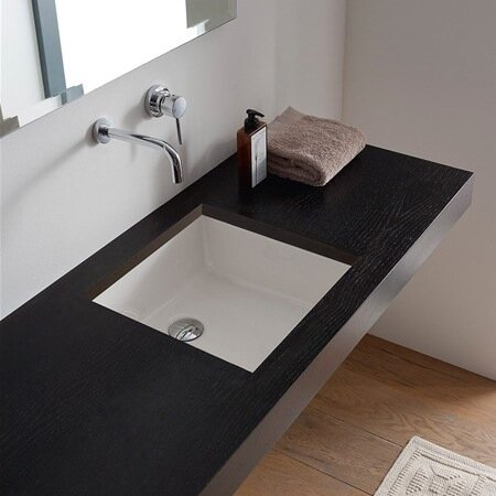 Scarabeo by Nameeks Miky Ceramic Square Undermount Bathroom Sink