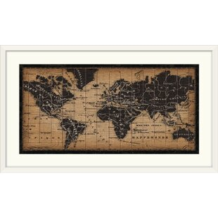 World map framed art youll love wayfair old world map graphic art print gumiabroncs Image collections