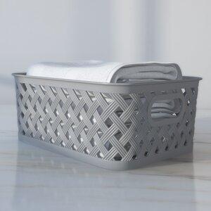 Basics Woven Plastic Basket
