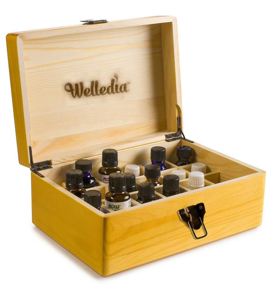 Welledia Aroma Storage Essential Oil Wooden Box | Wayfair