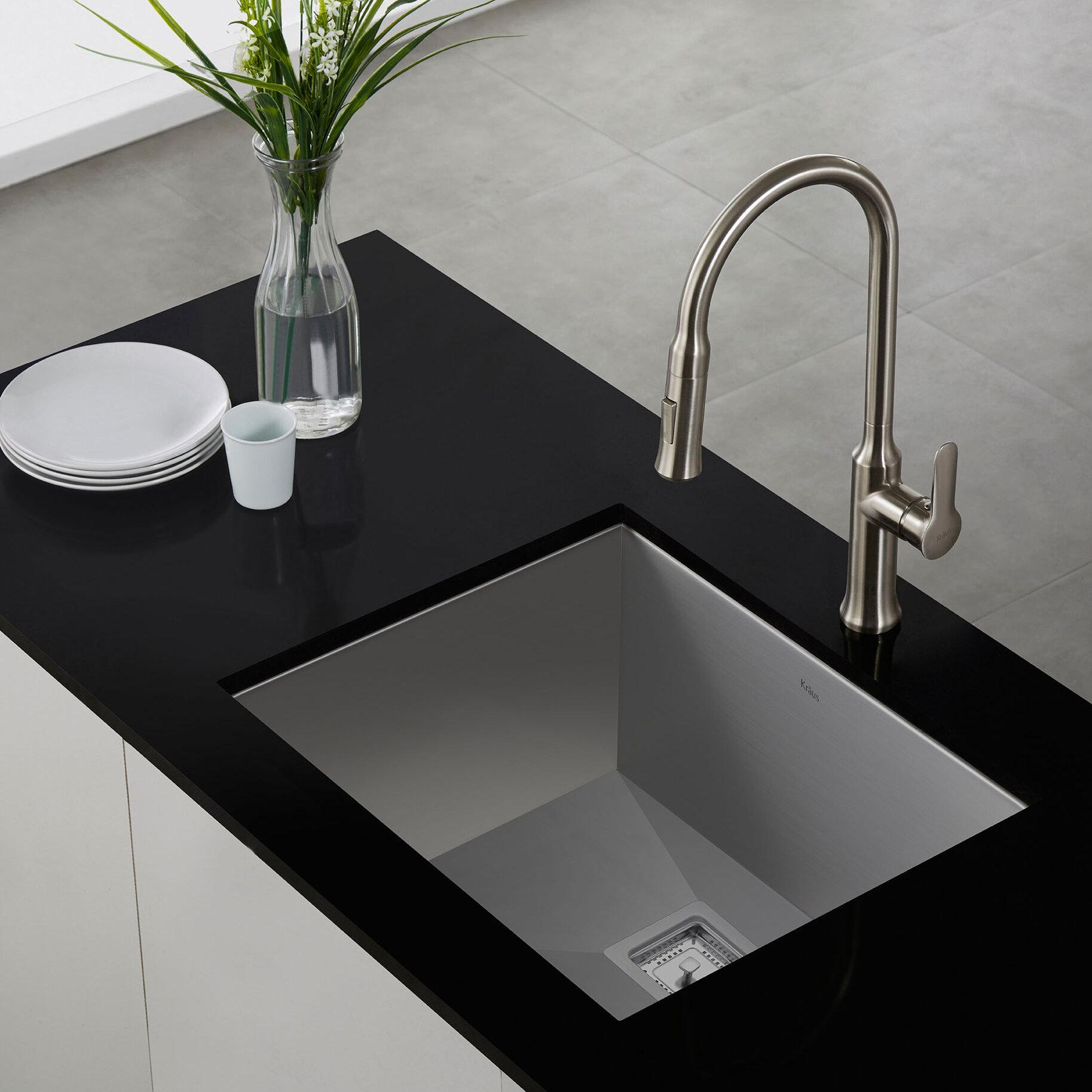 """Kraus Pax™ 22 5"""" x 18 5"""" Undermount Kitchen Sink & Reviews"""