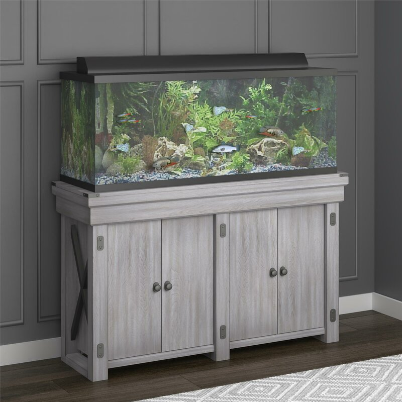 Archie Oscar Ester 55 Gallon Aquarium Stand Reviews Wayfair
