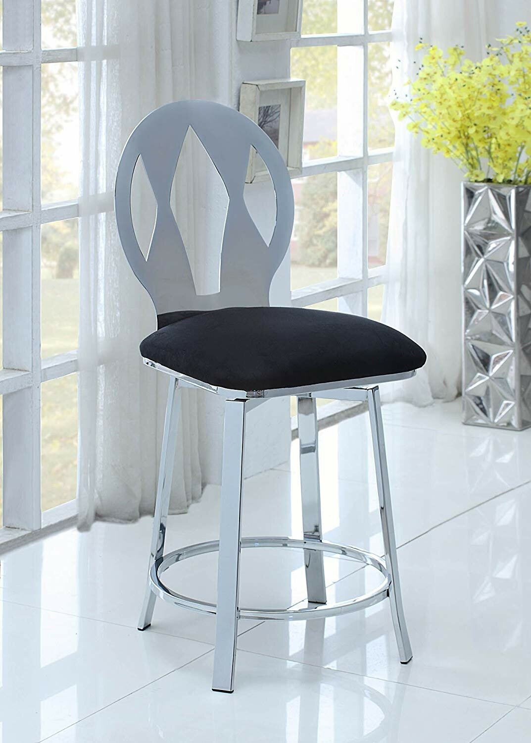 Orren Ellis Nyla 24 Swivel Bar Stool Wayfair