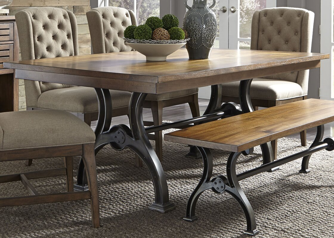 Restaurant Furniture Austin : Trent austin design brownwood piece dining table set