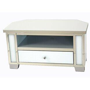 b9006e2fea8 June Mirrored Glass Corner TV Stand