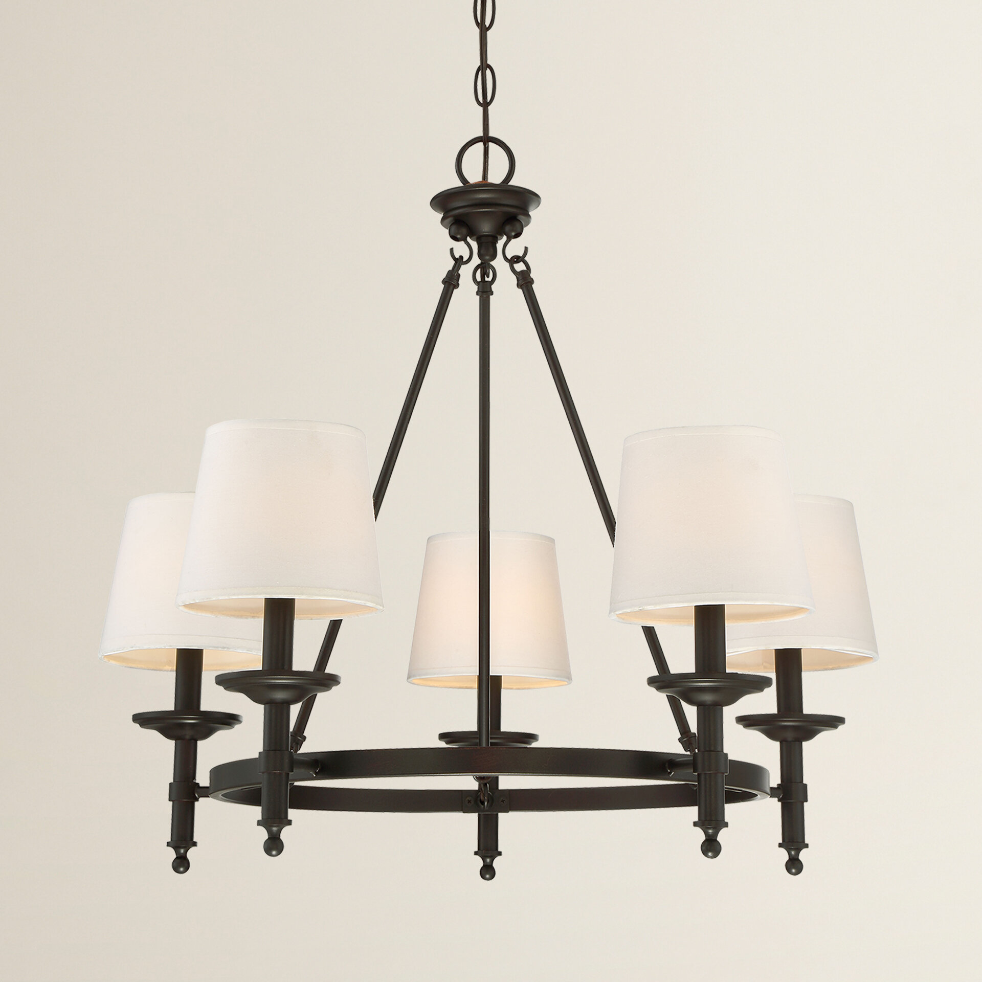 Glastonbury 5 Light Shaded Chandelier & Reviews