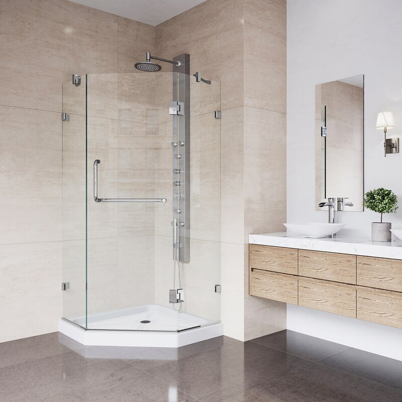 Frameless Neo Angle Shower Enclosure With 375