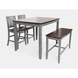 Shepshed 4 Piece Counter Height Dining Set