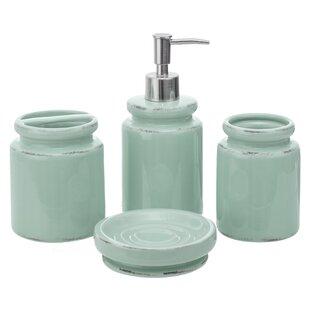Cane 4 Piece Bathroom Accessory Set