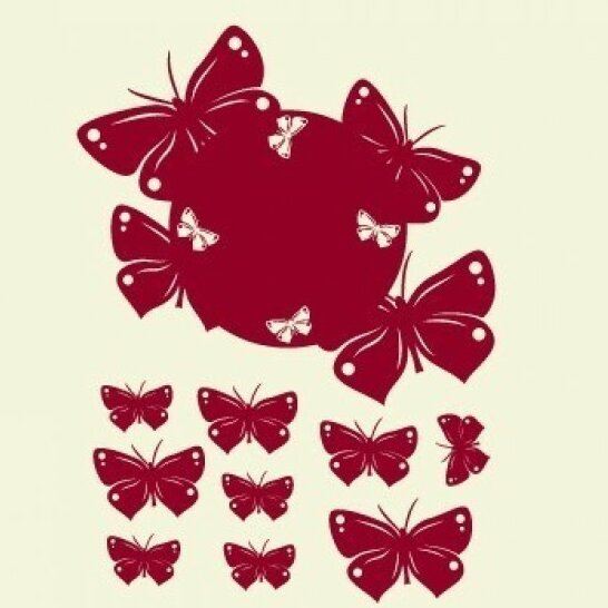 Butterfly Wall Clock Wall Decal