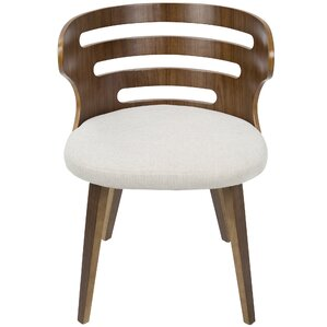Baehr Mid-Century Modern Upholstered Dining Chair by Wade Logan