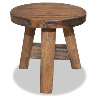 Antiques Capable Hand Made Wood Stool Post-1950