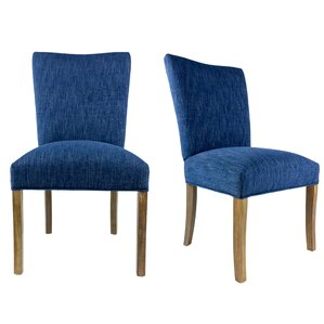Knowlson Upholstered Parsons Chair in Ras..